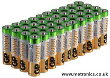 AA Alkaline Battery 36 Pack (36 BATTERIES) Also known as LR6 Pencil Batteries