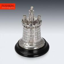 More details for antique 19thc victorian solid silver guard tower table lighter, london c.1878