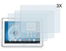 3 x Samsung Galaxy Note 10.1 N8000 N8010  Klar Schutzfolie Displayschutz Folie