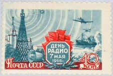 RUSSIA SOWJETUNION 1958 2082 A 2063 Radio Day Tower Ship Planes Rundfunk MNH