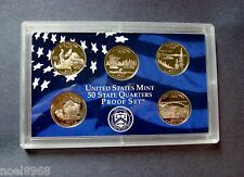 "2005-S FIVE COIN PROOF STATE QUARTER SET IN SEALED HOLDER NO BOX OR C.O.A."" A-4A"