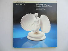 WEDGWOOD and Related English Pottery. Sotheby's, New York. April 22, 1981