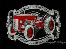 Vintage Oldtimer Traktor Schlepper Trecker Buckle Landbau Gürtelschnalle  *305
