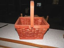 Wood Wicker Basket with Handle has a orange color to it ~ Perfect For Fall ~