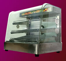 "Mtn Commercial Stainless Steel Countertop Food Pizza Display Warmer 25""x23""x17&#034 ;"