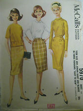 Vintage 60's McCalls 5970 SKIRT & BLOUSE Sewing Pattern Teen Size 14/34