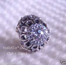 FLORAL BRILLIANCE Authentic PANDORA Silver/Clear ZIRCONIA Charm-Bead NEW!!!