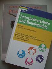 2 Bücher Naturheilverfahren und Homöopathie Krankheit Behandlung + Pilates Yoga