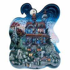Ghost Shaped Haunted Halloween House Jigsaw Puzzle 300 Oversized Pieces NEW