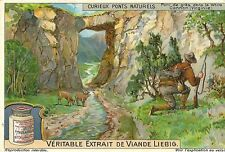 CHROMO LIEBIG CURIEUX PONTS NATURELS PONT DE GRES DANS LE WHITE CANNON