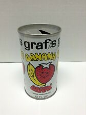 VINTAGE Graf's Banana Berry Pull Tab Steel SODA CAN