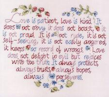 Cross Stitch Kit ~ Janlynn Love is Patient Floral Bible Verse #187-0301