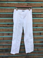 Tex by Max Azria Women's Cotton Pants Small (size tag missing) White Cotton S