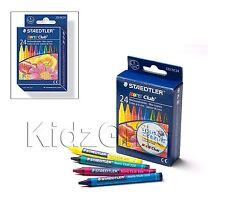 24pc STAEDTLER Kids Art colorazione resistente all'interruzione CERA PASTELLI COLORI ASSORTITI