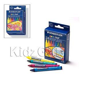 STAEDTLER CRAYONS 24PC Kids Art Colouring Break Resistant Wax Assorted Colours