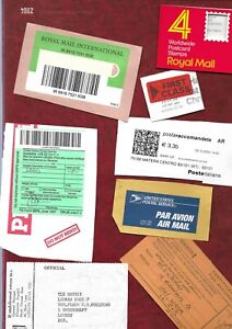 20 different Postage items, labels etc mainly Royal Mail + other carriers
