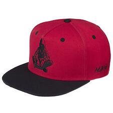 2387e7469ad0c Nebelkind Snapback Cap rot mit schwarzer Stickerei edel onesize unisex