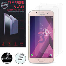 "2X Tempered Glass Samsung Galaxy A3 (2017) 4.7 "" a320f Genuine Screen Protector"