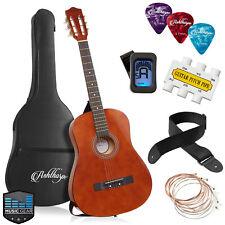 Open Box - 38-inch Beginner Acoustic Guitar Package - Brown, Kids Starter Kit