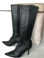 Calvin Klein Vintage High Leather Boots Size 5