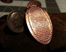 """Ten Comandments"" Golf Ball Marker Copper Flattened penny - Ball Marker"