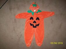 HALLOWEEN PUMPKIN PATCH COSTUME FULL SUIT 6 TO 8 MONTHS TODDLER