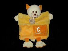 Doudou Marionnette C comme ... Chat jaune Babynat' Baby Nat'
