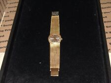 14k yellow gold Mathey Tissot wrist watch 68.2 grams 8 inch 17 jewels   663