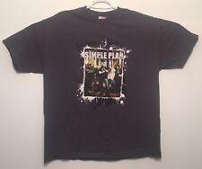 vtg Vintage Simple Plan Concert Canadian Tour T Shirt 2005 Pop Punk Rock XL