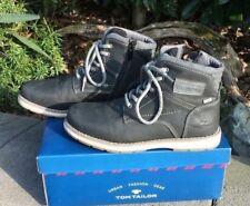 Tom Tailor * Herren Boots Schnürschuh Stiefel Schuhe * Gr. 41 * anthrazit
