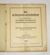 Valta BUCH ZUSCHNEIDEKUNST 1919 Schnittzeichnen Schnittmuster Schneiderbuch alt