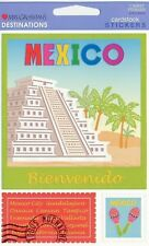 ~ Mexico Bienvenido Travel Holiday Cardstock Stickers Mrs Grossman ~