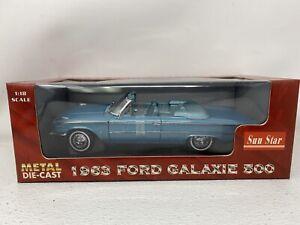 1/18 Sunstar 1963 Ford Galaxie 500 Convertible Blue  Part # 1452