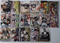 1991 Pro Set Series 1 Los Angeles Raiders Team Set 17 Football Cards