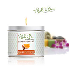 Alphy&Becs Candles Orange & Cinnamon Eco Soy 200gr HandMade In UK