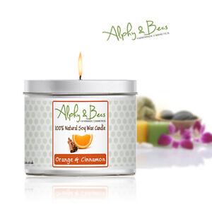 Alphy&Becs Candles Orange & Cinnamon Eco Soy 200gr HandMade In UK