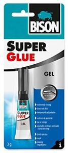 Bison Super Glue Gel 3g Adhesive Non Drip Formula Pool & Snooker Cue Re Tipping
