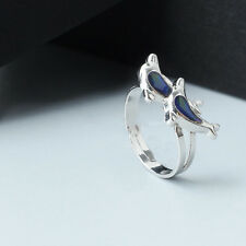 Fashion Chic Dolphin Ring Emotion Feeling Color Changing Mood Ring To Lover Gift