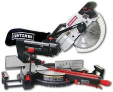"New Craftsman 10"" Compact Sliding Compound Miter Saw with Laser Trac Precision"