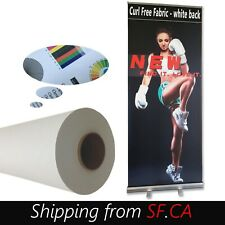 Water Based Matte Curl Free Fabric For Retractable Roll Up Banner Stand 63x40ft