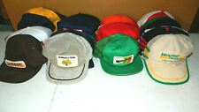33 VTG 1980 80'S TRUCKER HAT CAP LOT PATCH 3 STRIPE MESH SNAP BACK MADE IN USA