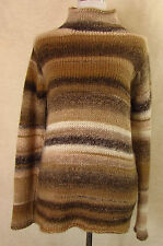 Gestreifte Damen-Pullover & -Strickware mit grober Strickart aus Wolle