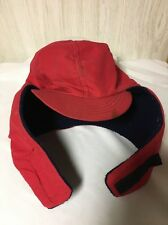 P Winter Hunting Flaps Hat Size Large Fleece Lining Red USA made