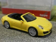 1/87 Herpa Porsche 911 Carrera 4S Cabrio racinggelb 028899