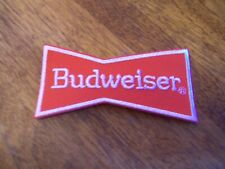 BUDWEISER BOW TIE  BEER PATCH   (PUT ON )  SHIRT JACKET HAT