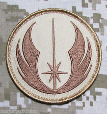 JEDI ORDER STAR WARS LOGO USA MILITARY TACTICAL ARMY MORALE DESERT HOOK PATCH