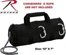 Black Tactical Stealth Rappelling Rope Bag Rappelling Gear 8170 Rothco