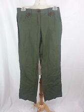 XHILARATION WOMEN'S GREEN Cotton PANTS Sz 5 Nepal EUC