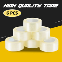 Clear Packing Tap 50MMX40M - 6 Rolls Sticky Packing Adhesive Packaging Tape