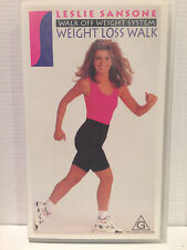 WALK OFF WEIGHT SYSTEM with LESLIE SANSONE ~ WEIGHT LOSS WALK ~ VHS VIDEO